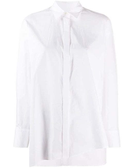 Enfold オーバーサイズ シャツ White