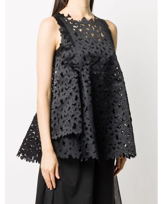 Paskal Butterfly レーザーカット トップ Black
