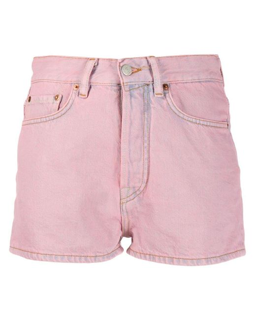 Acne Pink Classic Denim Shorts