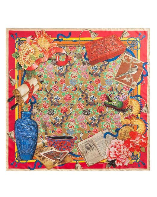 Foulard con stampa Silk Road di Dolce & Gabbana in Red