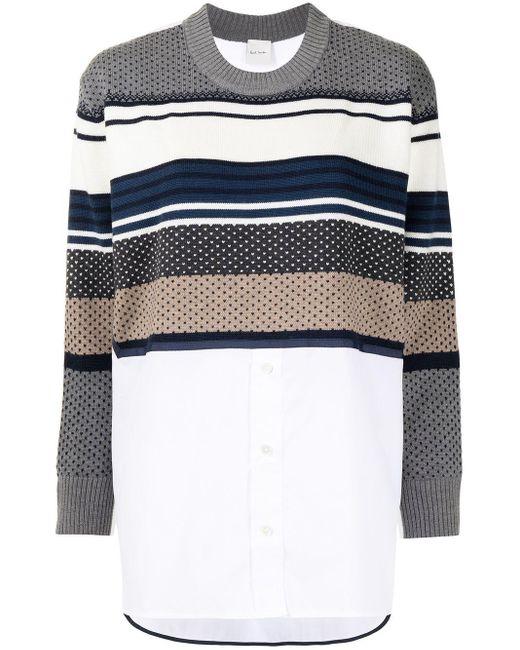 Paul Smith White Merino Shirt-sweater