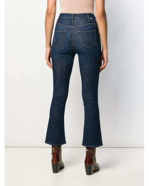 Mother Blue Klassische Skinny-Jeans