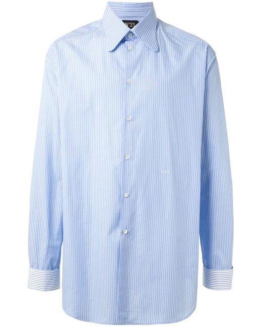 メンズ N°21 ストライプ シャツ Blue