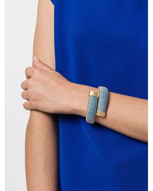 Браслет-кафф 'caro' Carolina Bucci, цвет: Blue