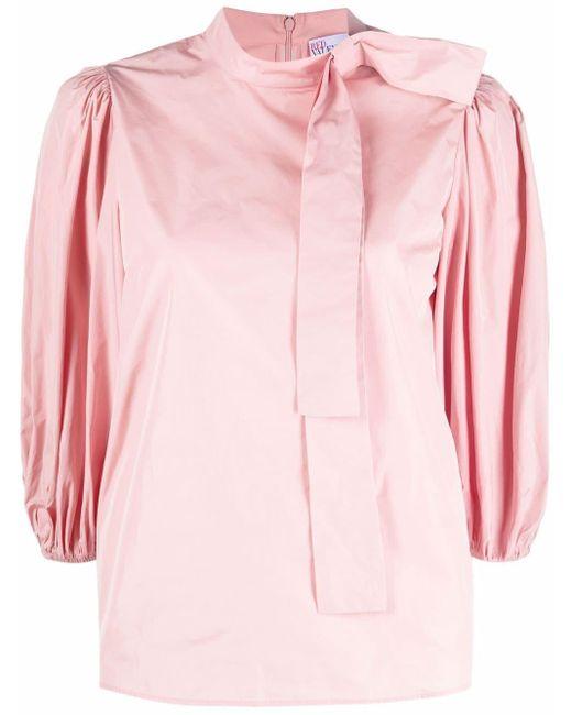 RED Valentino リボン パフスリーブブラウス Pink