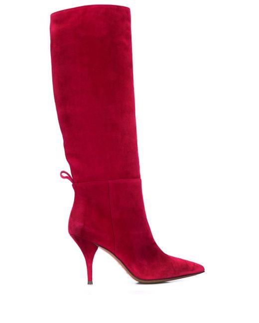 L'Autre Chose ロングブーツ Red