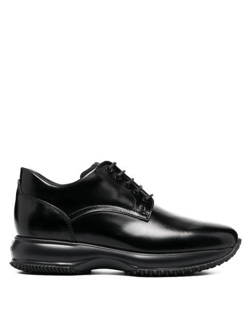Туфли На Шнуровке Hogan для него, цвет: Black
