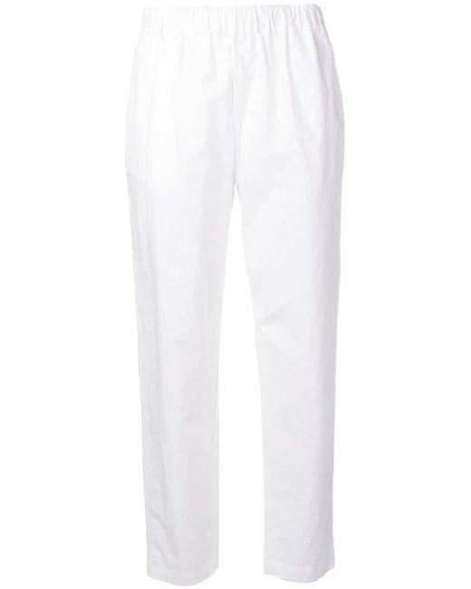 Erika Cavallini Semi Couture クロップド テーパードパンツ White