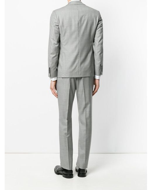 Lyst - Versace Houndstooth Pattern Suit in Black for Men