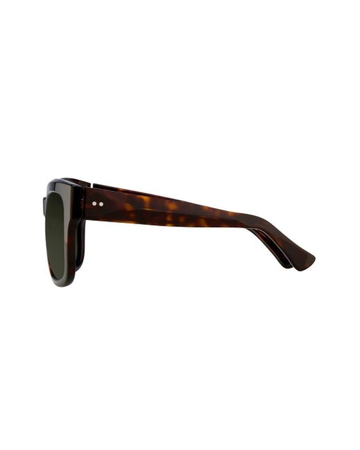 Linda Farrow Women's Brown Dries Van Noten D-frame Sunglasses