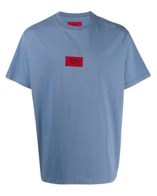 メンズ 424 ロゴ Tシャツ Blue