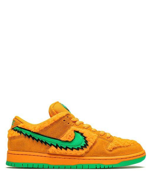 """メンズ Nike Sb Dunk Low """"grateful Dead"""" スニーカー Orange"""