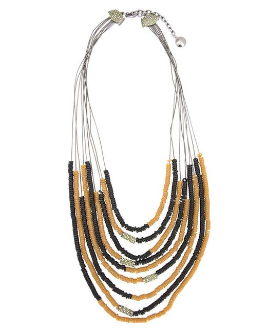 Camila Klein - Metallic Correntária Resin Details Necklace - Lyst