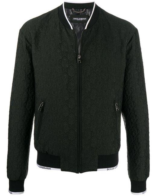 Бомбер С Принтом Пейсли Dolce & Gabbana для него, цвет: Black