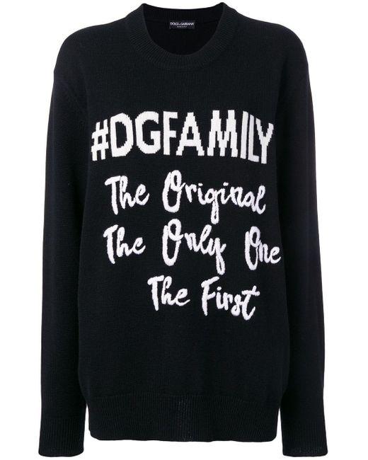 Dolce & Gabbana #dgfamily セーター Black