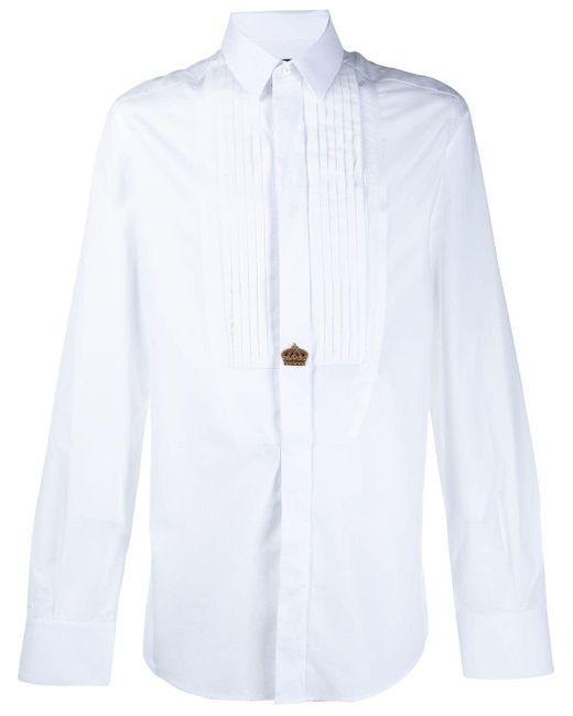 メンズ Dolce & Gabbana エンブロイダリーシャツ White