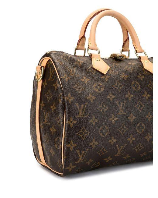 Louis Vuitton プレオウンド スピーディ 30 バンドリエール ハンドバッグ Brown