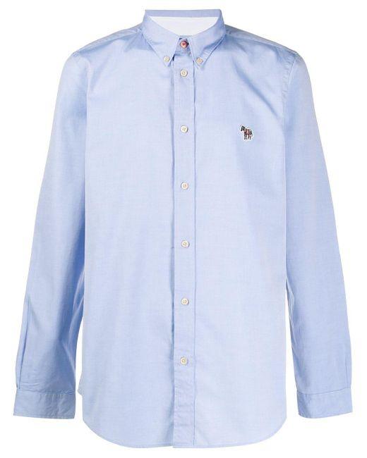 メンズ PS by Paul Smith ボタンカラーシャツ Blue