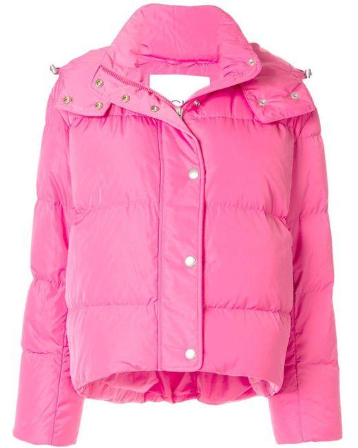 Calvin Klein フーデッド パデッドジャケット Pink