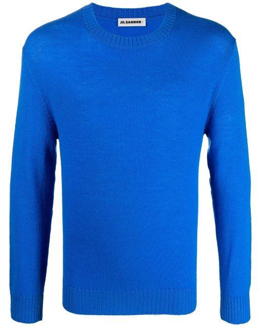 Джемпер С Круглым Вырезом Jil Sander для него, цвет: Blue