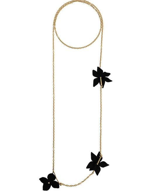 Marni Metallic Halskette mit Blume
