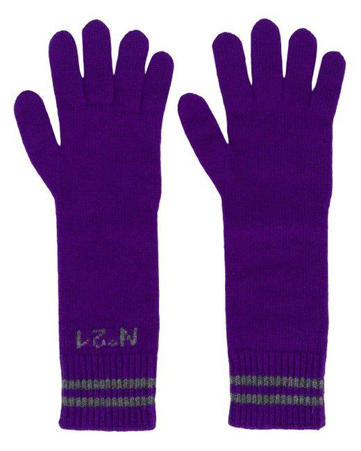 N°21 Purple Long Logo Gloves