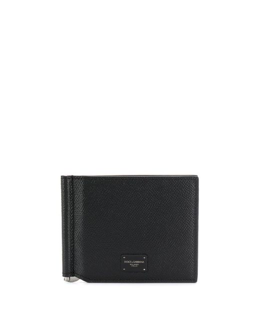 メンズ Dolce & Gabbana 二つ折り財布 Black