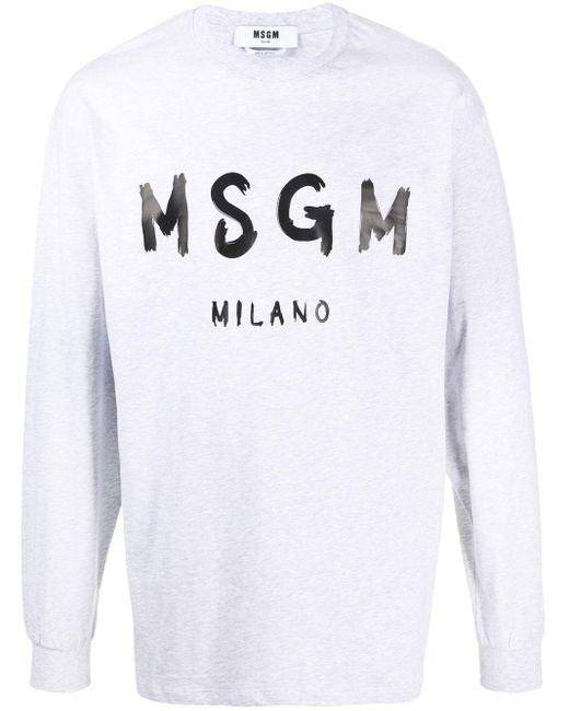 Толстовка С Логотипом MSGM для него, цвет: Gray