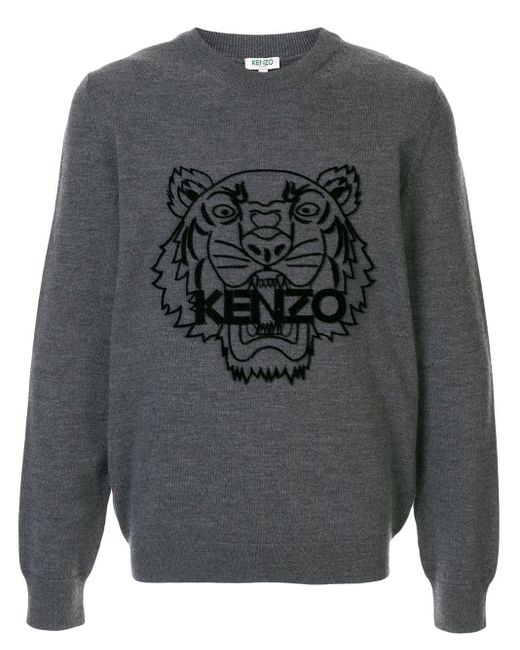 メンズ KENZO タイガープルオーバー Gray