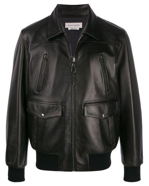 Veste bomber à poches multiples Alexander McQueen pour homme en coloris Black