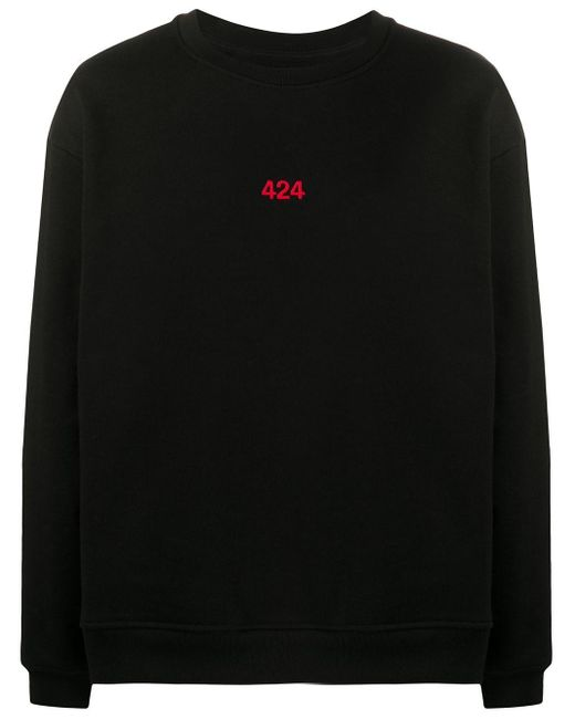 メンズ 424 ロゴ スウェットシャツ Black