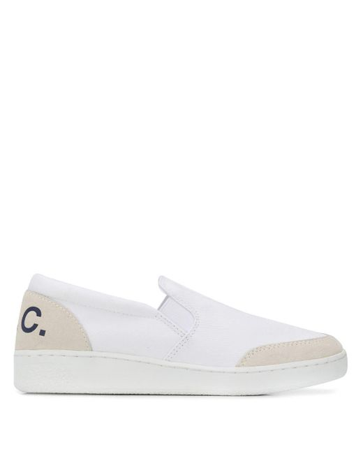 A.P.C. Slip On Joan スニーカー White