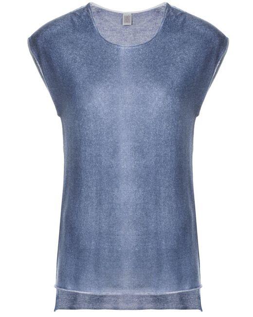 Eleventy Blue Fine Knit T-shirt