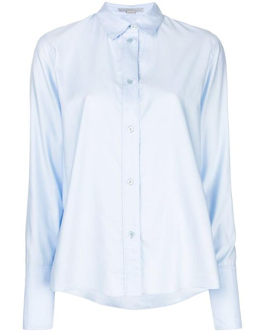 Stella McCartney - Blue Long-sleeved Shirt - Lyst