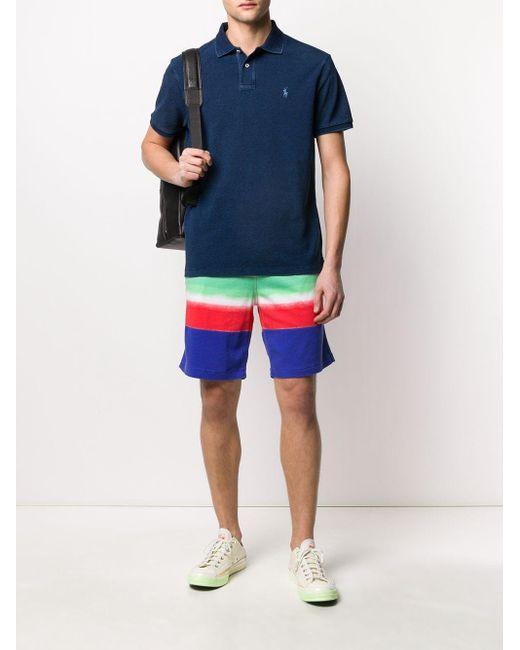 メンズ Polo Ralph Lauren ストライプ トラックショーツ Multicolor