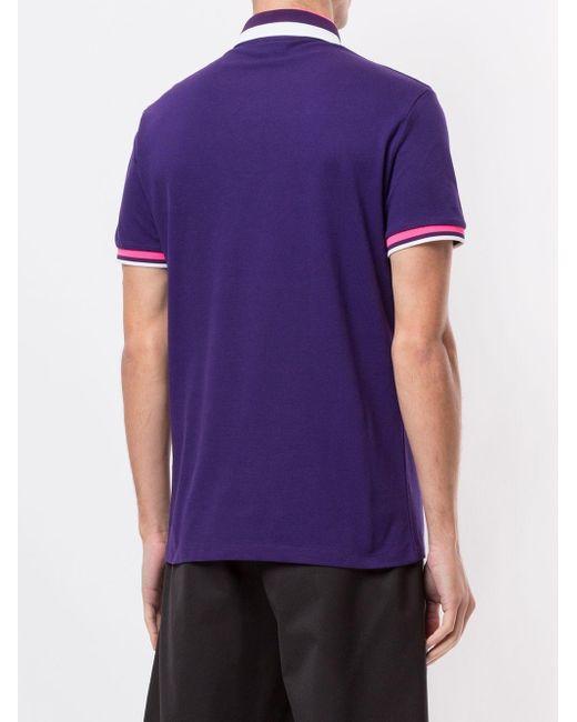 メンズ Emporio Armani ロゴ ポロシャツ Purple