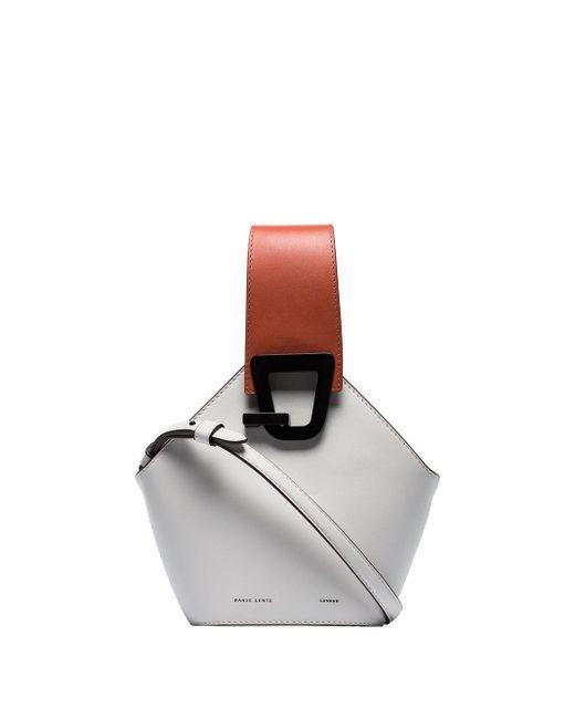 Danse Lente White Jonny Mini Leather Bucket Bag