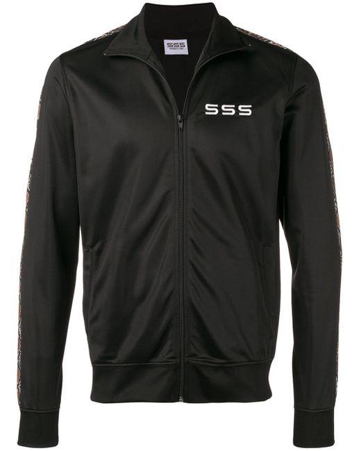 メンズ SSS World Corp ロゴ トラックジャケット Black