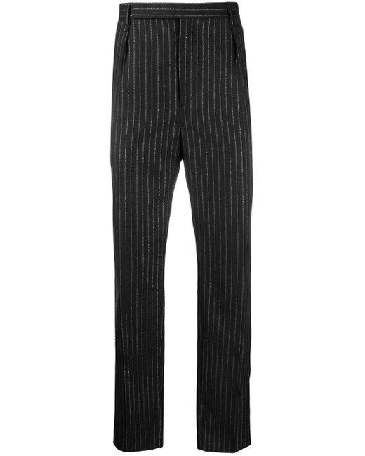 メンズ Saint Laurent メタリックストライプ パンツ Black