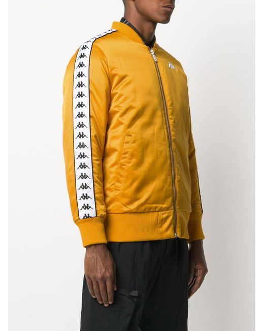 メンズ Kappa ロゴ ボンバージャケット Yellow