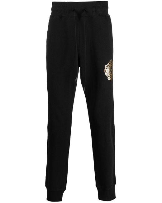 Спортивные Брюки С Логотипом Versace Jeans для него, цвет: Black