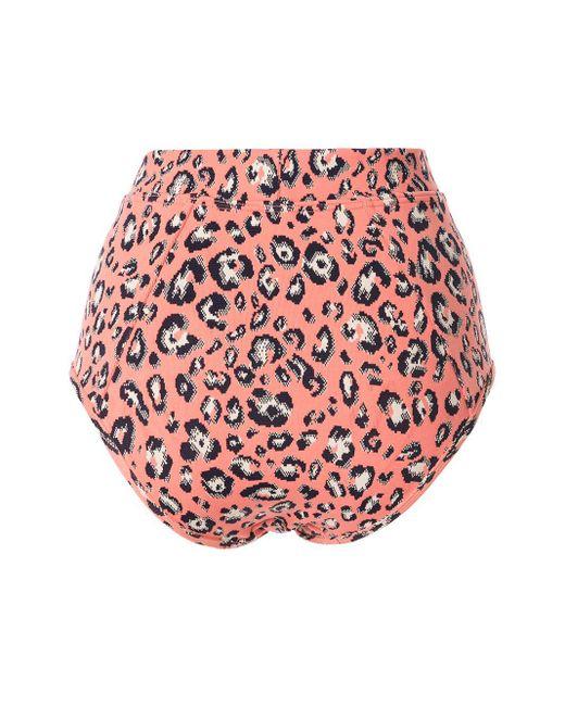 Suboo Women's Pink Cora High-rise Bikini Briefs