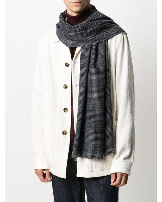 メンズ Dell'Oglio チェック スカーフ Gray