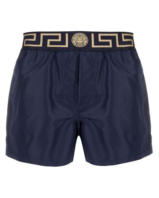 メンズ Versace グレカ ボクサーパンツ Blue