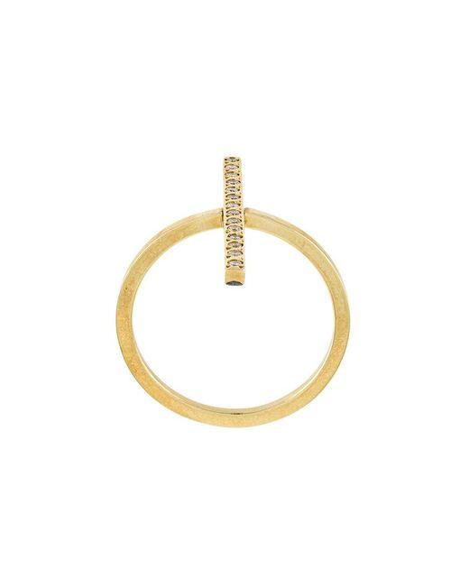 Ileana Makri - Metallic Double Cross Over Ring - Lyst