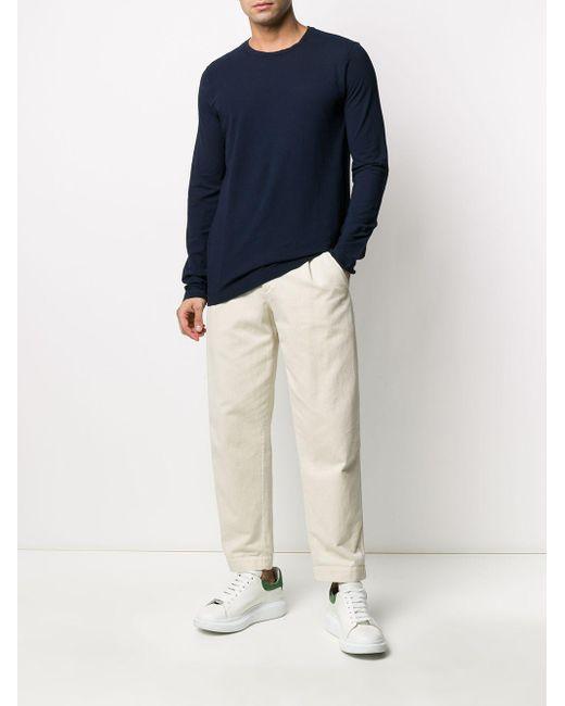 T-shirt à manches longues Drumohr pour homme en coloris Blue