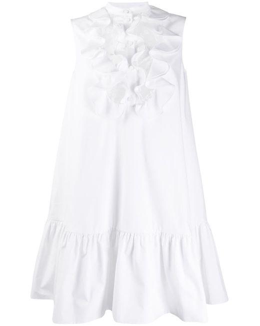 Alexander McQueen ラッフル ドレス White