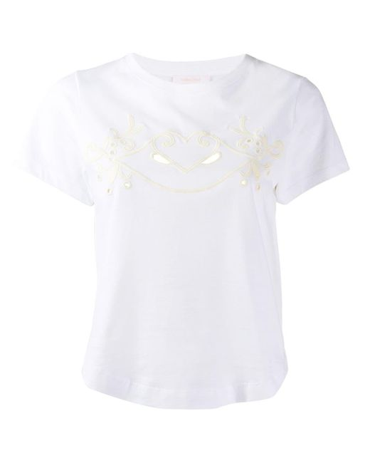See By Chloé クロップド Tシャツ White