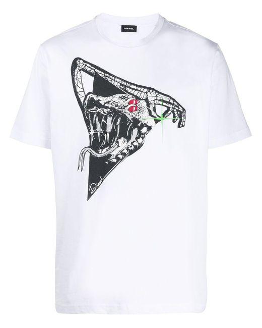 メンズ DIESEL T-just J-15 Tシャツ White