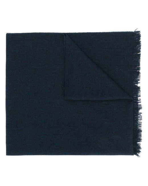 Écharpe à bords frangés Kiton pour homme en coloris Blue